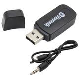 Adaptador Usb A Bluetooth Receptor 3,5plug Aux Auto Parlante