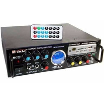 Amplificador 2 Ent.mic Usb Sd Rca Fm Karaoke 12v -220v C J F