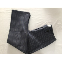 Jazmin Chebar. Hermoso Pantalon Capri Escocés. Talle 3
