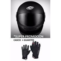 Casco Cid Integral + Guantes Joe Rocket Solo Ruta 3 Motos