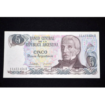 Billete 5 Pesos Argentinos - Bottero 2607 - Estado S/c