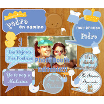 Photo Booth Baby Shower Imprimible Props Objetos Y Frases