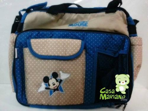 a5427b511 Bolso Maternal Futura Mama Disney Cambiador Mickey Minnie