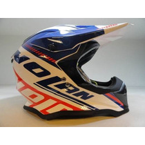 Casco Cross Nolan N53 Flaxy Italy Talle S (no Fox ,airoh)