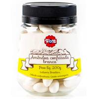 Amendoa Confeitada Branca 200g - Flora