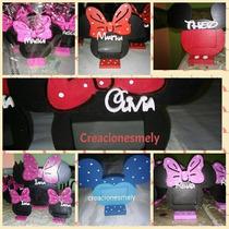 Souvenirs Portaretrato Mickey Y Minnie Con Nombre.