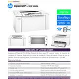 Impresora Laser Jet Hp M102 W Inalambrica Wifi Con Toner