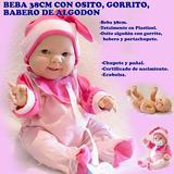 Bebé Bebota Real Gordita Con Chupete Pícara Nena
