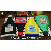 Sombrero Gorro Botella - Cerveza Coca Quilmes (pack X 4) !