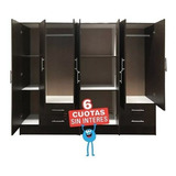 Placard Ropero 7 Puertas 4p Y 3p Dormitorio Revestido Cuotas