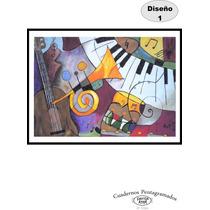 Cuaderno Pentagramado Artesanal 50 Hojas Pack 5 Unidades