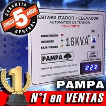 Elevador De Tensión Automático 16kva Pampa Rango 140v - 220v