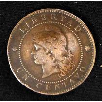 Escasa Moneda 1 Centavo De Patacón. 1885. Cobre.