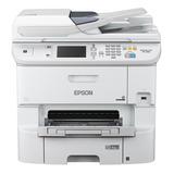 Impresora A Color Multifunción Epson Workforce Pro Wf-6590 Con Wifi 100v/240v Blanca