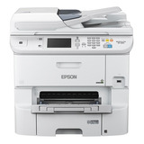 Impresora A Color Multifunción Epson Workforce Pro Wf-6590 Con Wifi 100v/240v Blanca