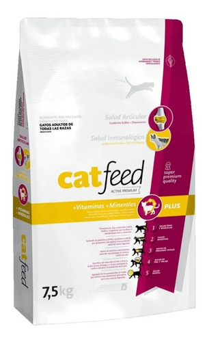 Alimento Cat Feed Gatos X 7.5 Kgsuper Premium