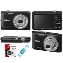 Camara Foto Nikon S2900 20mp Filmahd + 8gb + Lector5en1