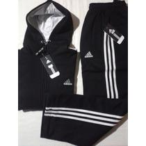 Conjunto Adidas Hombre Invierno Pantalon Y Campera C/capucha