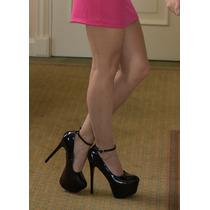 Zapato Mujer Charol Negro Zapato Fiesta