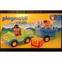 Playmobil 123 Auto Con Remolque Y Caballo Art 6958