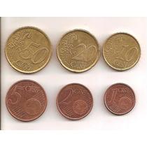 España 1-2-5-10-20-50 Centavos De Euro
