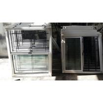 Ventana Aluminio Vidrio Entero 100 X 090 - Somos Fabricantes
