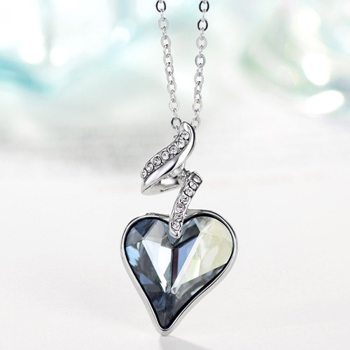 37cb559d064e Collar Dije Corazon Swarovski Elements.dia De La Madre en venta en ...