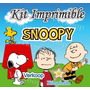 Kit Imprimible Snoopy + Candy Bar Fiesta Personalizada