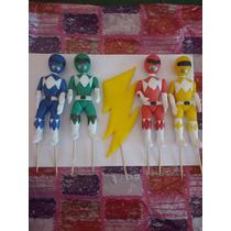 Power Rangers Adorno De Torta Souvenirs Porcelana Fria