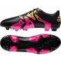Botines Adidas X 15.3 Fg-ag Black/pink/gold Suelo Firme