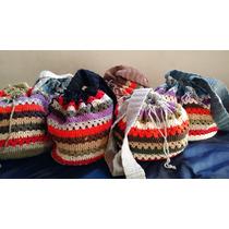 Cartera De Hilo Tejida Al Crochet Rainbow