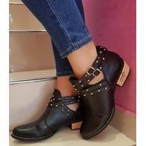 Zapatos Bajos Mujer Texana Baja Moda 2018 Taco Folia 1001