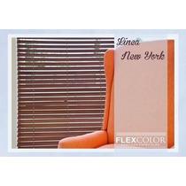Cortinas Venecianas De Madera Línea New York De Flex-color