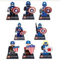 Minifiguras Capitan America - Set Por 8