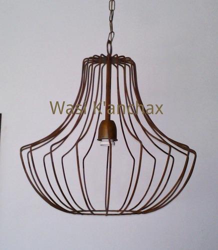 Iluminaci n lampara colgante en hierro acabado oxido 960 - Lamparas de hierro ...