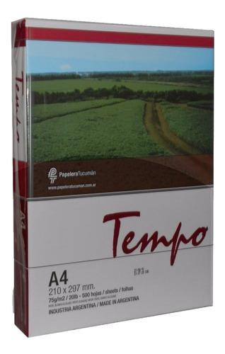 Resma Tempo A4 75 Grs Envios Papelera Grafipel