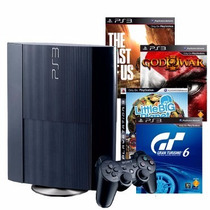 Sony Ps3 500gb + The Last Of Us + Gow Ascension +gt6 + Lbp3