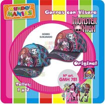 Gorras Con Visera Monster High - Originales - Mundo Manias