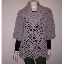 Sweater Tejido A Mano Lana Pulover Mujer Original...!!!