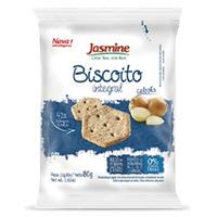 Biscoito Salgado Integral Cebola - 80g Jasmine