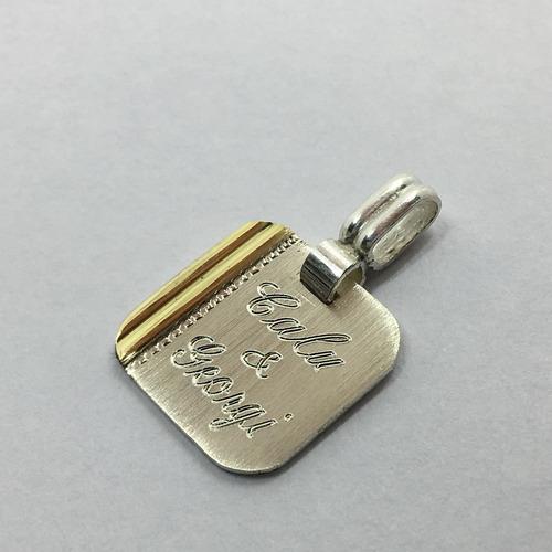 a308afb53406 Dije Medalla P grabar Plata Y Oro C grabado Y Cad Plata Oro -   1400 ...