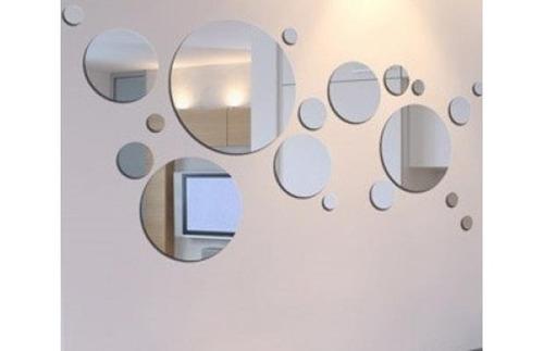 Juego 18 espejos redondos para decoracion 500 lbstc for Decoracion de pared con espejos redondos