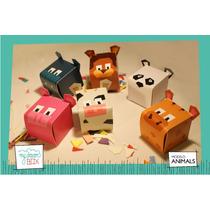Souvenirs Eventos Cumpleaños Cajas Animales Hipopotamo Perro