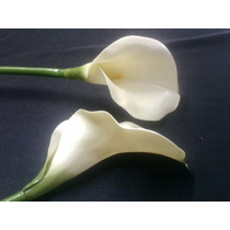 Calas Flores Artificiales (paq X 3) Solo Blancas