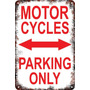 Carteles Antiguos Chapa 60x40 Parking Only Motorcycles Pa-16