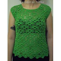 Musculosa En Crochet - Tejido Artesanal - Verano