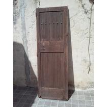 Puerta Antigua De Madera Con Tachas - Unica En Su Estilo !!!