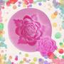 Molde Silicona Rosa Con Hojas Redonda !! No Es Caucho