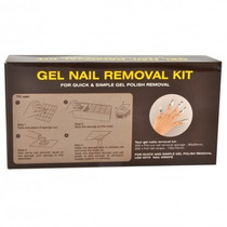 Kit Gel Nail Removal Removedor Uñas Esculpidas Wipes
