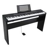 Teclado Piano Digital 88 Meike Mk885 + Stand Madera Cuotas